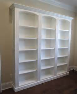 white tree bookcase custom three section bookcase in white borders woodworks
