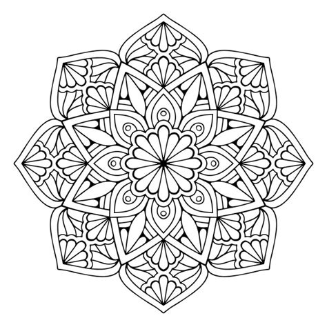 mandala floral vector free download