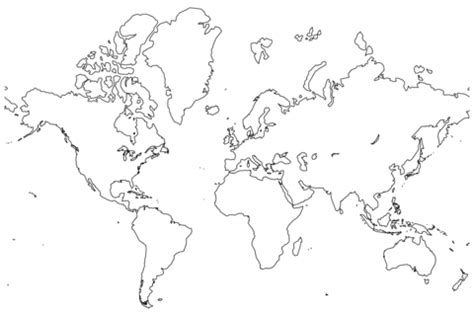 printable version of world map blank map of the world coloring page free printable