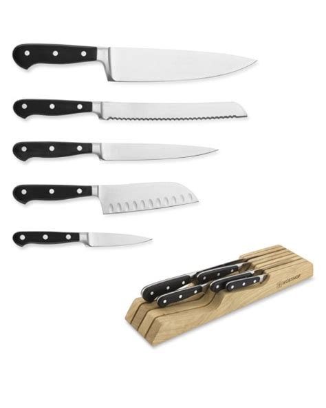 global in drawer tray knife set w 252 sthof classic 6 piece knife set with drawer tray