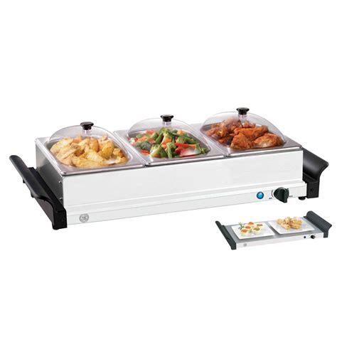 3 section food warmer bella 13337 3 tier buffet server