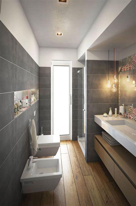 15 idee di design per arredare un bagno stretto e lungo