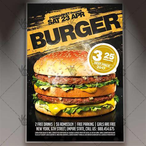 template flyer burger burger premium flyer psd template psdmarket