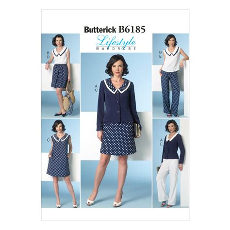 60339 Adinda Top Blouse butterick pattern b6185 misses jacket top dress skirt and 14 16 18 20 22 jo