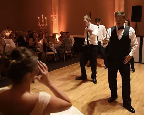 Groom Surprises Bride With Hilarious Choreographed Wedding