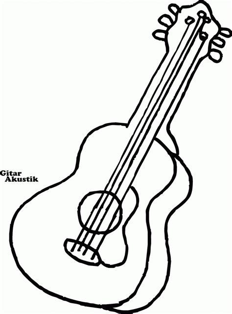 gambar mewarnai macam macam alat musik contoh anak paud