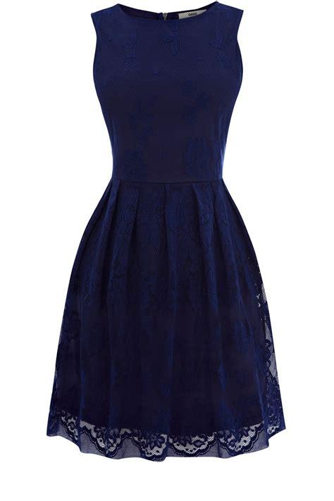 Dress Blue oasis lace cutaway dress in blue blue lyst