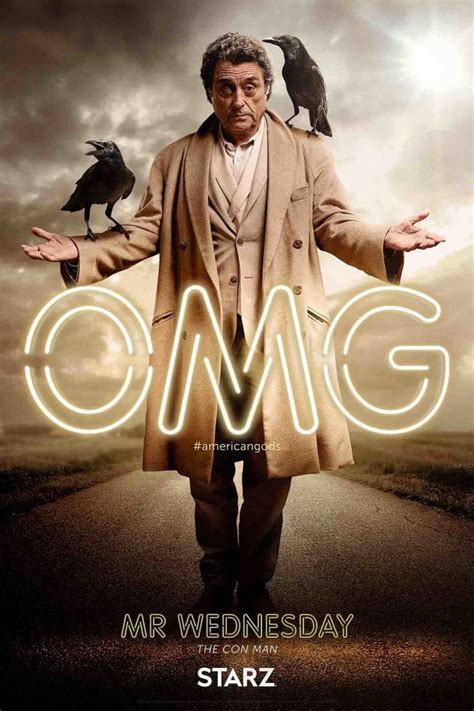 american gods american gods omg character posters mymbuzz