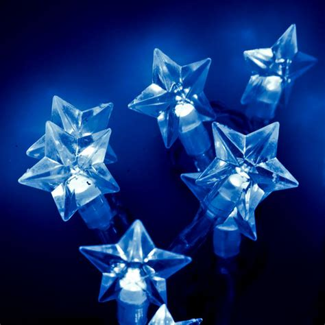 blue star fairy lights konstsmide 2 85m length of 20 blue indoor static battery