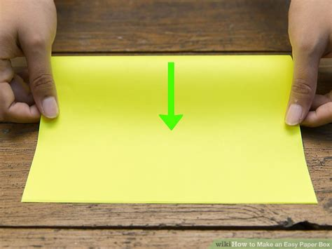 How To Make A Box Using Paper - 4 ways to make an easy paper box wikihow