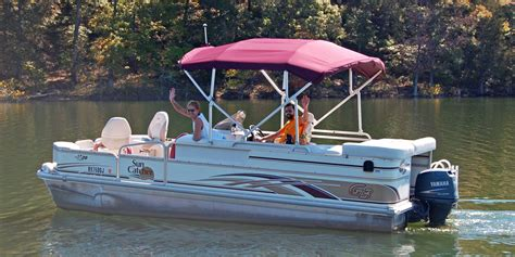 Cabin Pontoon Boat by Pontoon Boat Rental Beaver Lake Arkansas Cabins Aluminum