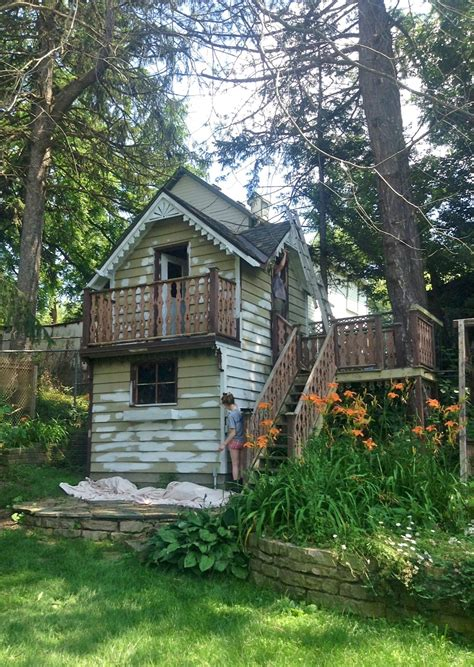dusty victorian victorian style shed playhouse