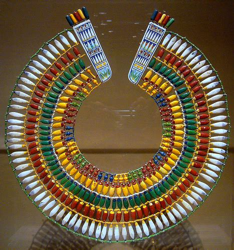 bead center nyc broad collar ancient necklace of faience