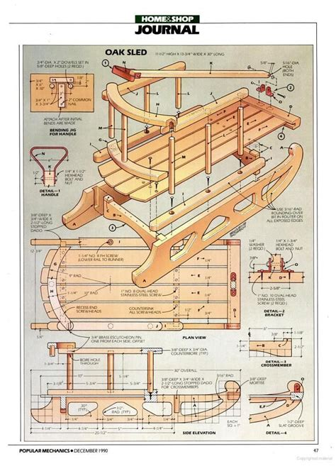 sle blueprints sled plans popular mechanics google books diy craft