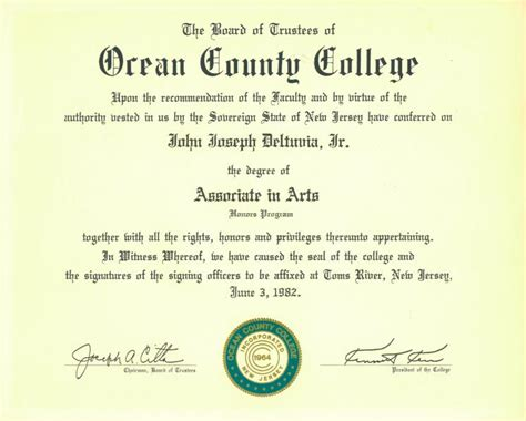 aa honors program degree county college j