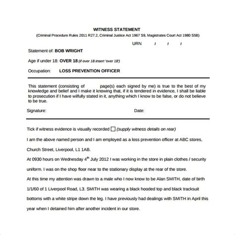ebook format with illustrations witness statement form template images download cv