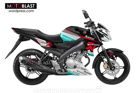 Half Fairing New New Megapro Biru modif striping new vixion akrapovic maknyoozzz motoblast