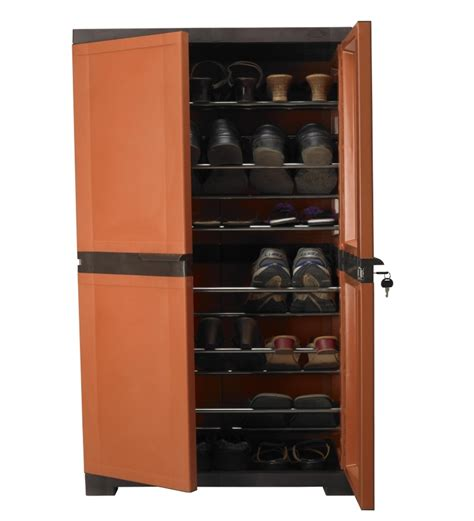 Nilkamal Kitchen Cabinets by Nilkamal Freedom Shoe Cabinet Weather Brown And Rust By