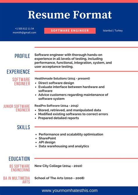 resume formats  templates