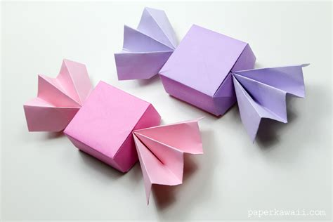 Origami With - origami box lid paper kawaii
