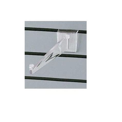 Plastic Shelf Bracket Supports by 12 Quot Slatwall Lexan Plastic Shelf Bracket Clear Lot Of