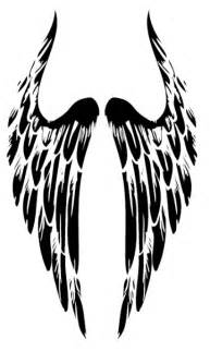 Tribal angel wings high quality photos and flash designs of tribal