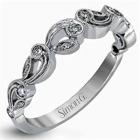 simon g white gold vintage style filigree wedding ring