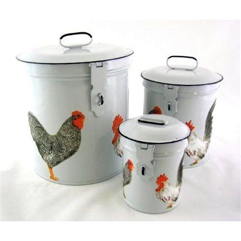 french enamel canister set french country canister set white retro enamel with