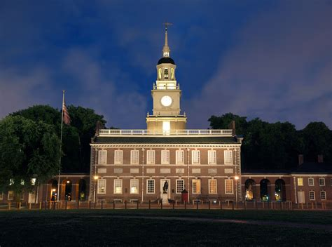 Independence In Philadelphia Pennsylvania by Independence After Hours Wooder