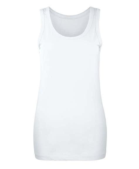 Tank Top C2 Xl slim fit plain vest top womens basic cotton t shirt tank tops s xl ebay