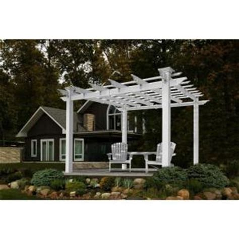 New England Arbors Mirage Pergola Va42033 The Home Depot Pergolas Home Depot