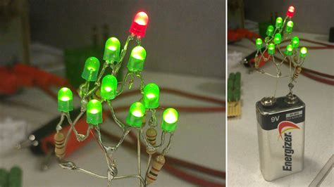 twelve volt christmas tree all you need for a tree is a battery leds and a how