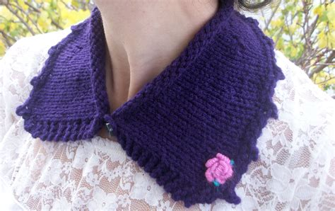 how to knit collar rosebud knitted collar acornkiss