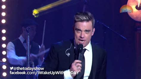youtube robbie williams swing robbie williams swing youtube robbie williams on today
