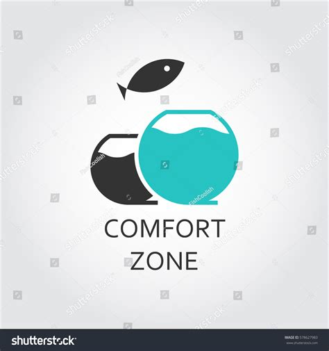 aquarium design eps aquarium jumping fish comfort zone concept stock vector