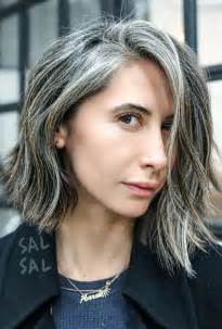 grey hair with black streaks 25 best ideas about gray streaks on pinterest silver