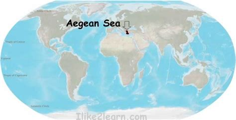 aegean sea map aegean sea