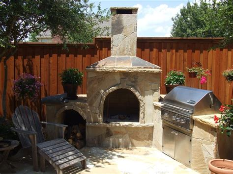 fireplace beautiful small backyard area rustic outdoor