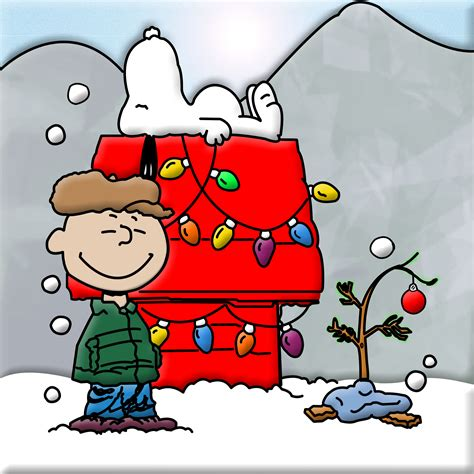 snoopy and charlie brown christmas clipart clipart suggest