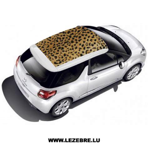Auto Sticker Leopard by Autocollant Toit Auto Peau Leopard