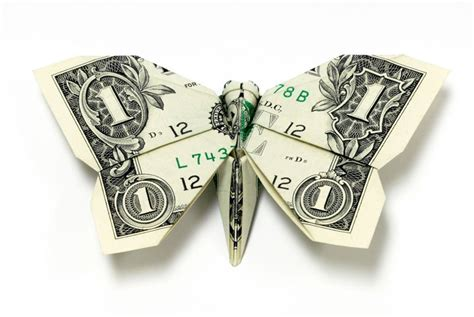 Money Origami Butterfly - amazing origami using only dollar bills 171 twistedsifter
