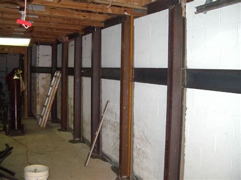 basement wall support i beams bowing or cracking basement walls marietta ga