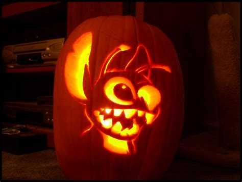 attractive Really Cool Pumpkin Carving Ideas #3: Stitch_Pumpkin_Carving___5_Hrs_by_Experiment720.png