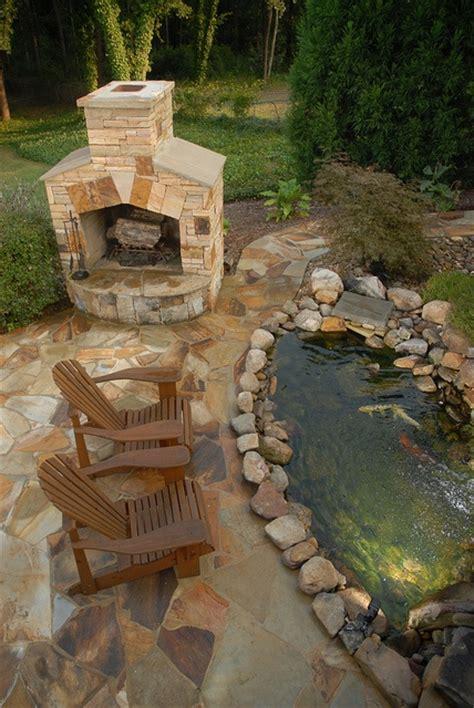 backyard hardscape design ideas outdoor fish pond ideas japanese style koi pond butterfly
