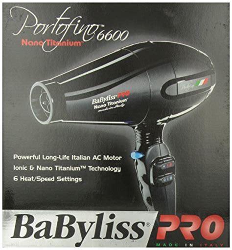 Babyliss Hair Dryer Made In Italy babyliss pro babnt6610 portofino 6600 2000 watt nano titanium ionic hair dryer black