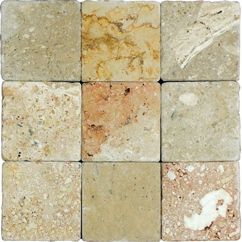 4 Inch Travertine Tile by Toscana Tumbled Travertine Mosaic Tiles 4x4 Tile Us