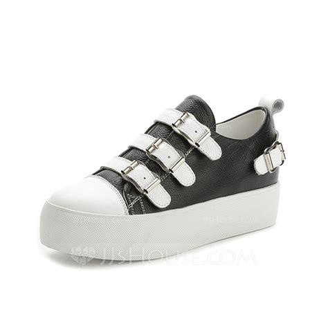 s real leather wedge heel platform closed toe wedges