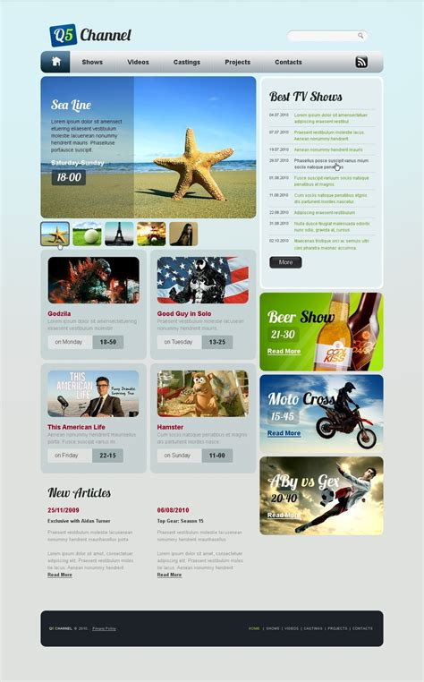 Tv Channel Website Template 31074 Tv Channel Website Templates Free