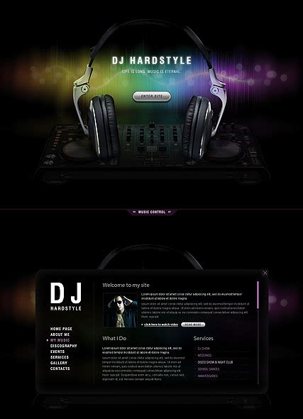 dj music html5 template html5 web templates 300111454