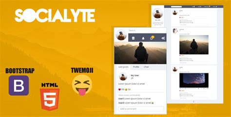 social networking templates socialyte html social network template by codeplus it